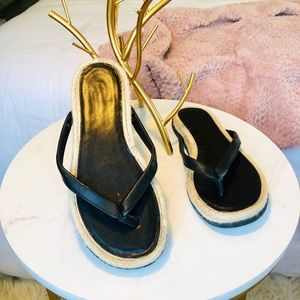 Marc Fisher faux leather sandals